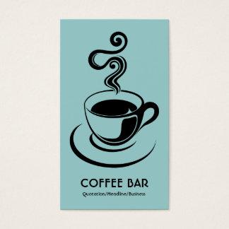 Kaffeetasse-Vertikale - Schwarzes auf lt blaues Visitenkarte