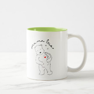 Kaffeetasse Zwei-Ton Mutter Bear