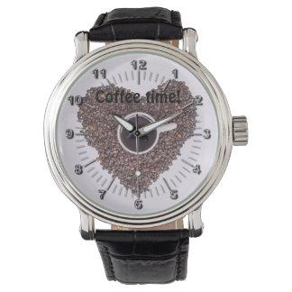 Kaffeezeit Armbanduhr