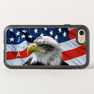 Kahler Adler-amerikanische Flagge mit Monogramm OtterBox Symmetry iPhone 8/7 Hülle