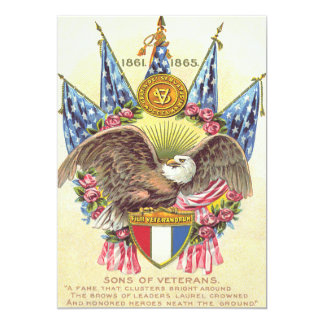 Kahler Adler-amerikanische Flaggen-Rose 12,7 X 17,8 Cm Einladungskarte