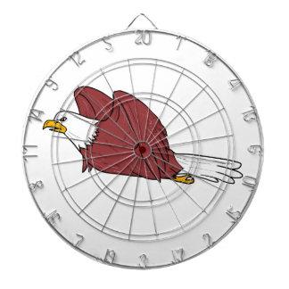 Kahler Adler-Fliegen-Cartoon Dartscheibe