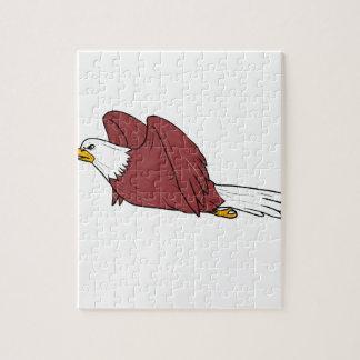 Kahler Adler-Fliegen-Cartoon Puzzle