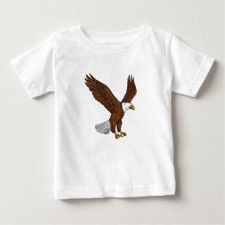 Kahler Adler-Fliegen-Zeichnen Baby T-shirt