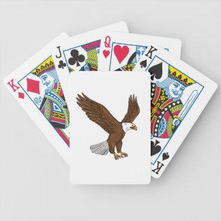 Kahler Adler-Fliegen-Zeichnen Bicycle Spielkarten