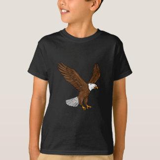 Kahler Adler-Fliegen-Zeichnen T-Shirt