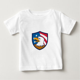Kahler Adler lächelnder USA-Flaggen-Wappen-Cartoon Baby T-shirt