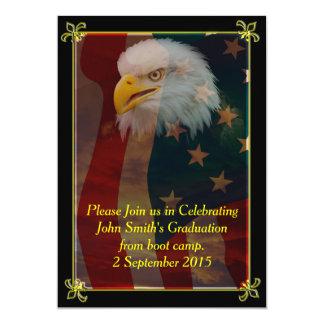 Kahler Adler mit amerikanische 12,7 X 17,8 Cm Einladungskarte