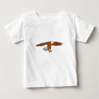 Kahler Adler-Swooping Zeichnen Baby T-shirt