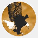Kahler Amerikaner Eagle Runde Aufkleber