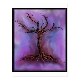 kahler lila Baum Postkarte