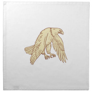 Kahler unten zeichnende Adler-Fliegen-Flügel Serviette