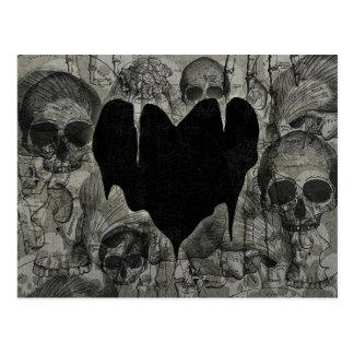 Kahles Herz-gotischer Valentinsgruß Postkarte