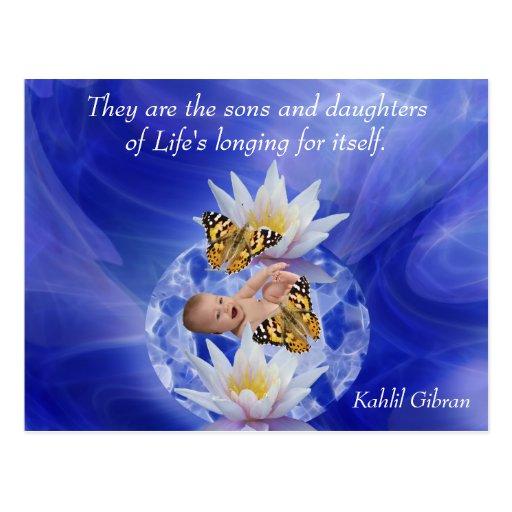 Kahlil Gibran auf Kindern und Babys Postkarten