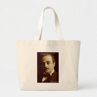 "Kahlil Gibran ""Klugheits-stolze"" Zitat-Geschenke Jumbo Stoffbeutel"