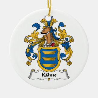 Kahne Familienwappen Rundes Keramik Ornament