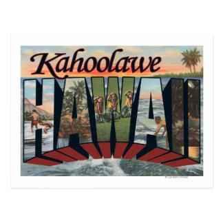 Kaho'olawe, Hawaii - große Buchstabe-Szenen Postkarte