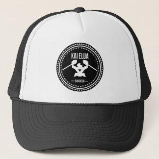 Kai Elua schwarzes Logo Ausleger-2013% pipe% Truckerkappe