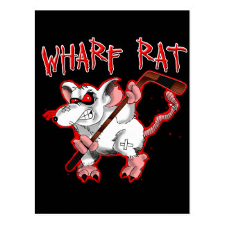 Kai-Ratten-Cartoon-Maskottchen Postkarte