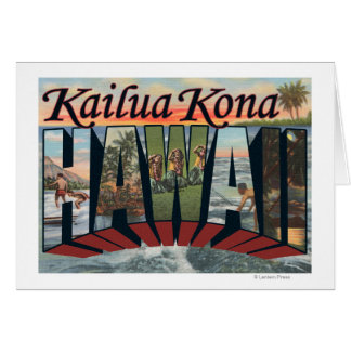 Kailua Kona, Hawaii - große Buchstabe-Szenen Karte
