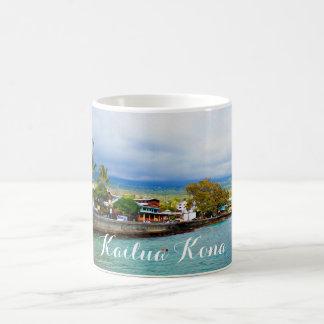 Kailua Kona Pier-Hawaii-Ölfarbe-Digital-Kunst Kaffeetasse