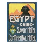 Kairo Ägypten - Vintage Reiseplakatkunst Postkarte