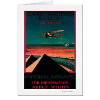 Kairo- - Bagdad- - Karatschi-Luft-Vintages Plakat Karte