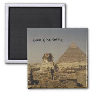 Kairo, Giseh, die Sphinx (St.K.) Quadratischer Magnet