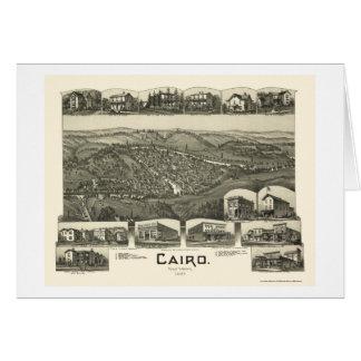 Kairo, WV panoramische Karte - 1899