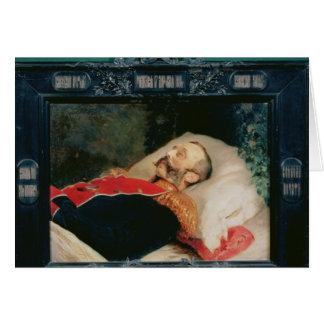 Kaiser Alexander II auf seinem Sterbebett, 1881 Karte