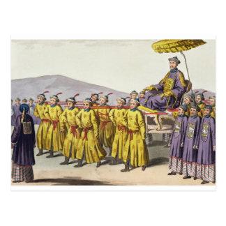 Kaiser Ch'ien Lunge trug herein Triumph, Postkarte