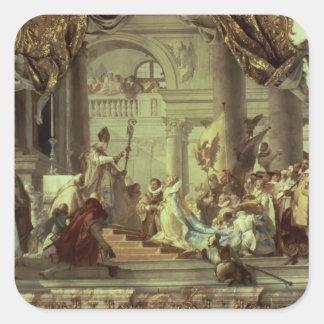 Kaiser Frederick Barbarossas Hochzeit Quadrataufkleber