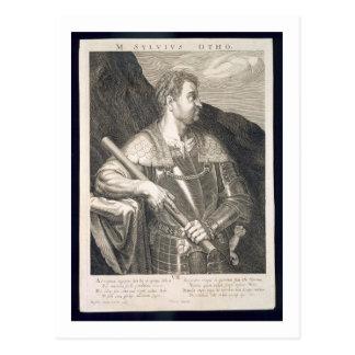 Kaiser M. Silvius Otho von ANZEIGE Roms 68 vorbei Postkarte