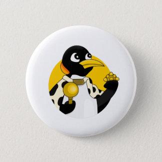Kaiser Penguin-Cartoon Runder Button 5,1 Cm