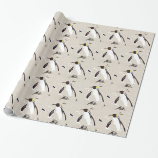 Kaiser-Pinguin Geschenkpapier