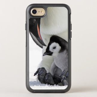 Kaiser-Pinguin in Schnee-Hügel-Insel OtterBox Symmetry iPhone 8/7 Hülle