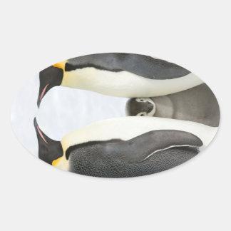Kaiser-Pinguine mit Küken - Aufkleber