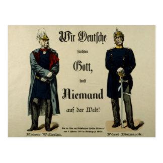 Kaiser Wilhelm I und Prinz Bismarck Postkarte