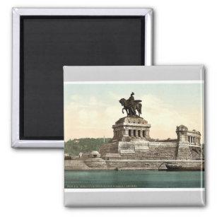 Kaiser-Williams Monument, Koblenz, der Rhein, GE Quadratischer Magnet