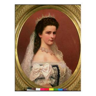 Kaiserin Elizabeth von Bayern auf Ungarn Postkarte