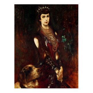 Kaiserin Elizabeth von Österreich, 1883 Postkarte