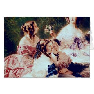 Kaiserin Eugenie und ihre Damen warteten herein Karte