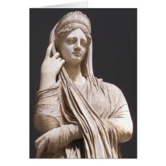 Kaiserliche römische Frauen - Statue Karte
