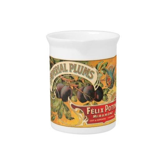 Kaiserpflaumen Felix Potin Miramont Vintage Kiste Krug