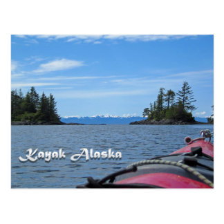 Kajak Alaska Postkarte