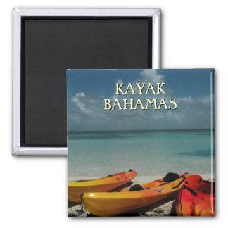 Kajak-Bahamas-Reise-Magnet Quadratischer Magnet