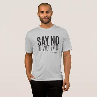Kajak-Hipster - lehnen Sie nasse Ausgänge ab - T-Shirt