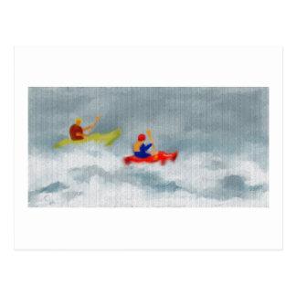 Kajak-Kunst Postkarte