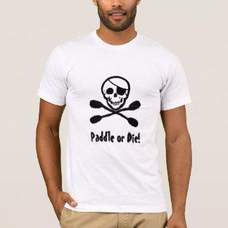 Kajak-Piraten-Piratenflagge-T - Shirt