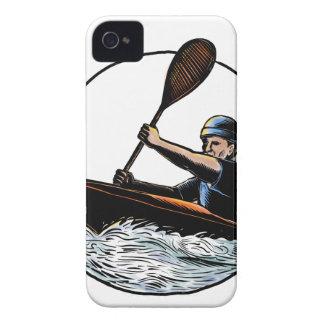 Kajakpaddler-Kanu Scratchboard iPhone 4 Hüllen